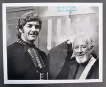 """ESTATE OF DAVE PROWSE - SIR ALEC GUINNESS - RARE SIGNED STAR WARS 8X10"""""""