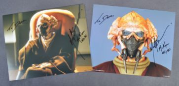 ESTATE OF DAVE PROWSE - STAR WARS OFFICIAL PIX MATT SLOAN SIGNED PHOTOS