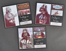 ESTATE OF DAVE PROWSE - STAR WARS - TRILOGY AUTOGRAPH DISPLAYS