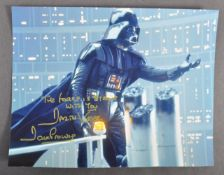 """ESTATE OF DAVE PROWSE - AUTOGRAPHED 8X10"""" STAR WARS PHOTOGRAPH"""