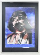 ESTATE OF DAVE PROWSE - LARGE LENTICULAR WALL PICTURE DARTH VADER