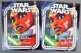 ESTATE OF DAVE PROWSE - STAR WARS - ASHLEY ECKSTEIN SIGNED PHOTOS