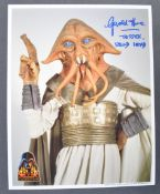 ESTATE OF DAVE PROWSE - STAR WARS - GERALD HOME SIGNED CELEBRATION PHOTOS
