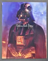 """ESTATE OF DAVE PROWSE - JAMES EARL JONES SIGNED 8X10"""" PHOTOGRAPH"""