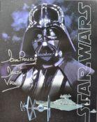 "ESTATE OF DAVE PROWSE - LARGE STAR WARS 14X11"" POSTCARD SIGNED"