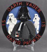 ESTATE OF DAVE PROWSE - DARTH VADER FAN ART PLAQUE