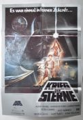 ESTATE OF DAVE PROWSE - STAR WARS 1977 ONE SHEET POSTER