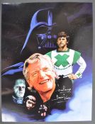 ESTATE OF DAVE PROWSE - SIGNED MONTAGE ARTWORK PRINT