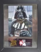 ESTATE OF DAVE PROWSE - SIGNED DARTH VADER PRESENTATION WITH QUOTE