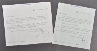 ESTATE OF DAVE PROWSE - PETER CUSHING - PERSONAL CORRESPONDENCE