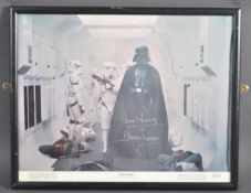 ESTATE OF DAVE PROWSE - STAR WARS - ORIGINAL 1977 SIGNED LOBBY CARD