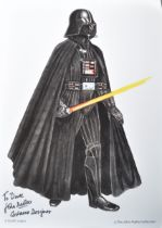 ESTATE OF DAVE PROWSE - STAR WARS - JOHN MOLLO SIGNED PHOTO
