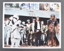 ESTATE OF DAVE PROWSE – STAR WARS - KENNY BAKER SIGNED PHOTO