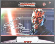 ESTATE OF DAVE PROWSE - RAY PARK (DARTH MAUL) SIGNED PHOTOGRAPH