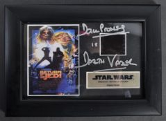 ESTATE OF DAVE PROWSE - AUTOGRAPHED FILM CEL DISPLAY