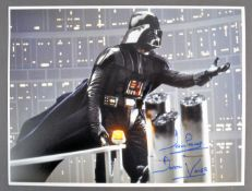 ESTATE OF DAVE PROWSE - EMPIRE STRIKES BACK 16X12 SIGNED
