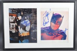 ESTATE OF DAVE PROWSE - BATMAN - ADAM WEST SIGNED PHOTOGRAPHS