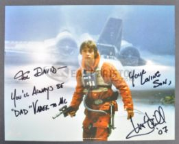 ESTATE OF DAVE PROWSE - MARK HAMILL - UNIQUE DEDICATED SIGNED PHOTO