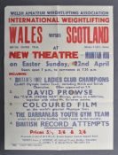 ESTATE OF DAVE PROWSE - 1962 WEIGHTLIFTING POSTER