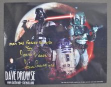 """ESTATE OF DAVE PROWSE - STAR WARS - SIGNED 8X10"""" PHOTO WITH QUOTE"""