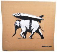 BANKSY - DISMALAND 2015 - HEAVY WEAPONRY ROCKET BOMB ELEPHANT