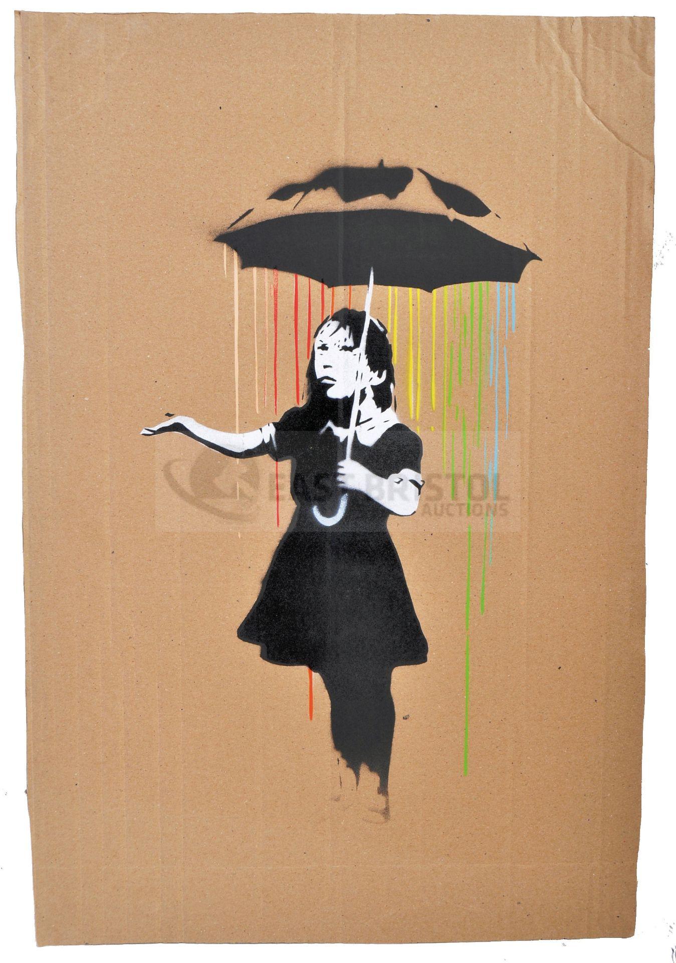 BANKSY - DISMALAND 2015 - UMBRELLA GIRL