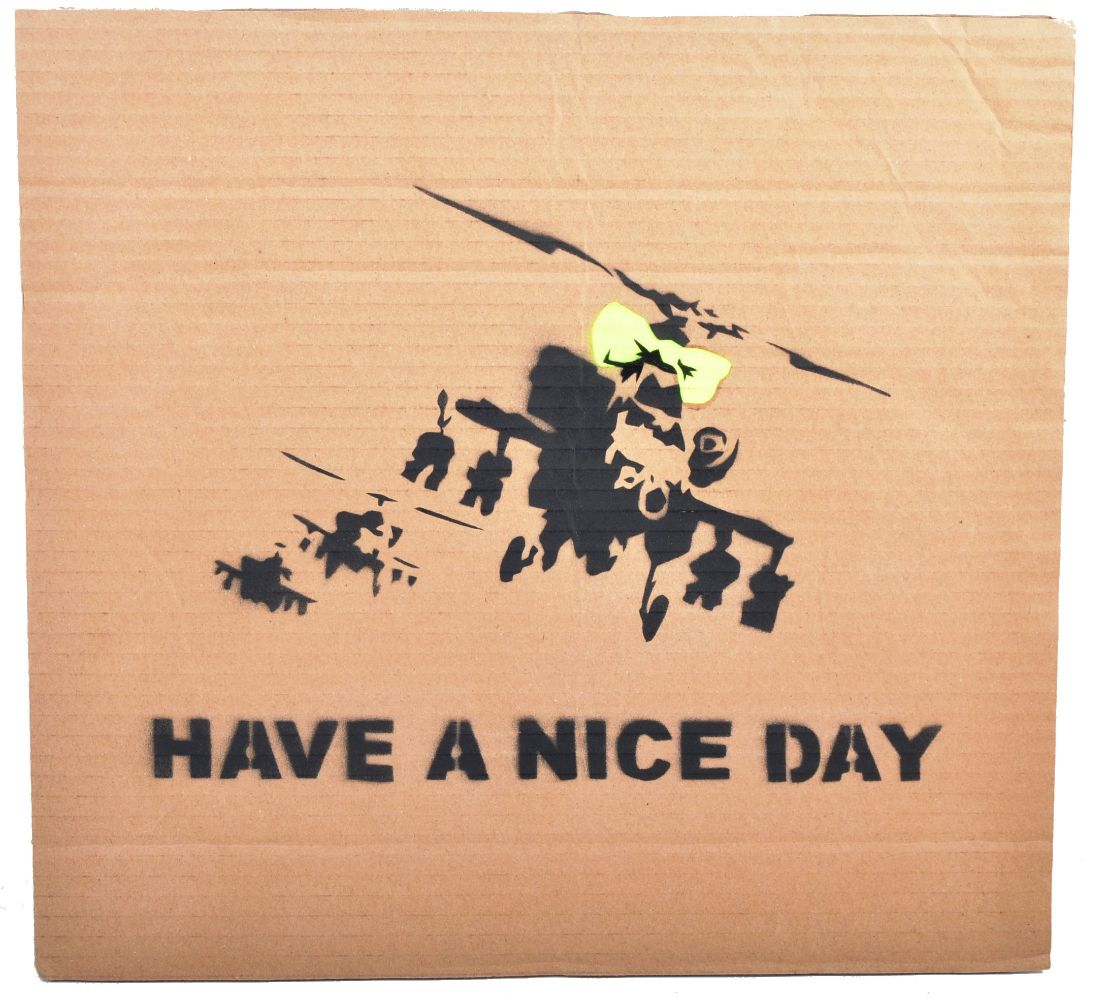 Banksy's Dismaland 'Free Art' - Worldwide Postage, Packing & Delivery Available On All Items