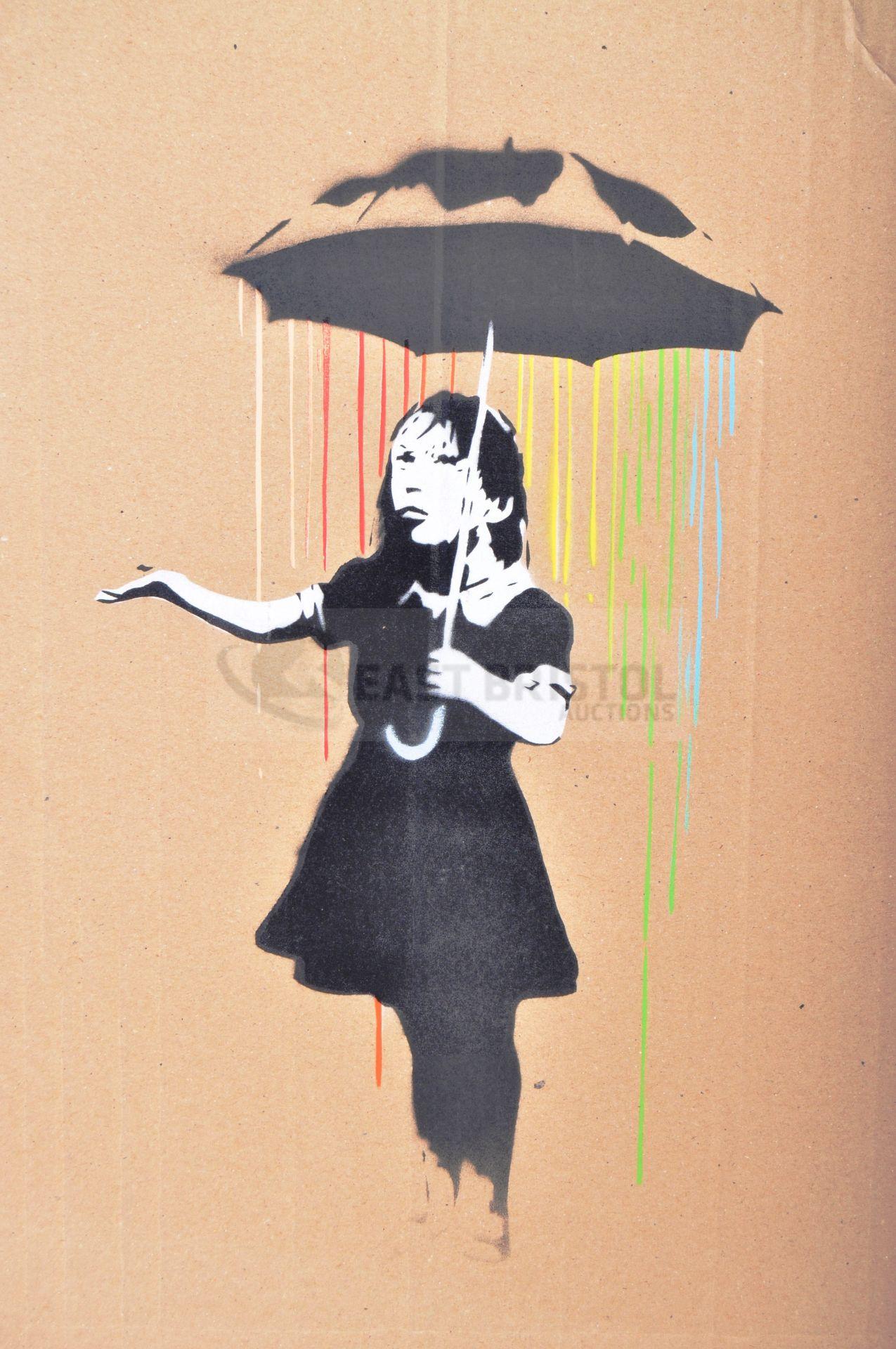 BANKSY - DISMALAND 2015 - UMBRELLA GIRL - Image 2 of 3