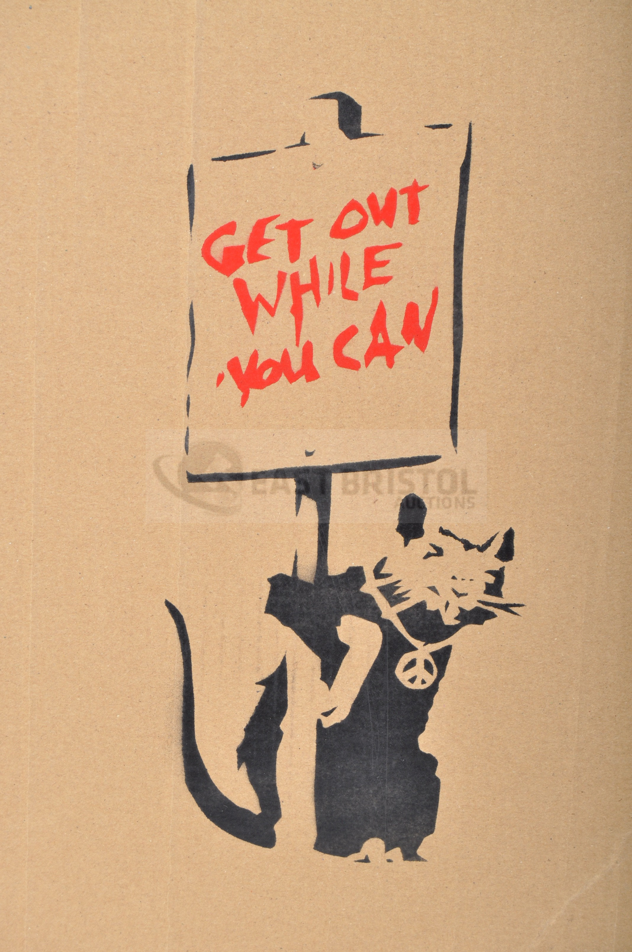 BANKSY - DISMALAND 2015 - GET OUT WHILE YOU CAN - Image 2 of 4