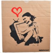 BANKSY - DISMALAND 2015 - LOVE YOUR TELEVISION