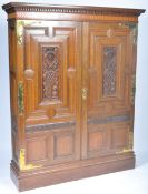 ANTIQUE MORRIS & CO ENGLISH ARTS & CRAFTS HALL CUPBOARD