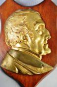 ANTIQUE 19TH CENTURY GILDED METAL DUKE OF WELLINGTON PLAQUE