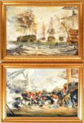 D.B. WITHERS - TWO OIL ON BOARD NAUTICAL SHIP PAINTINGS