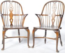 PAIR OF ANTIQUE STYLE WINDSOR CHAIRS BY THOMAS GLENISTER & CO