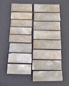 COLLECTION OF CHINESE ANTIQUE MOTHER OF PEARL GAMING TOKENS