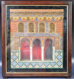 ANTIQUE 19TH CENTURY MODEL WINDOW FROM SALA DE DOS HERMANAS