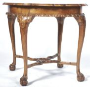 ANTIQUE STYLE WALNUT OYSTER VENEER CENTRE TABLE