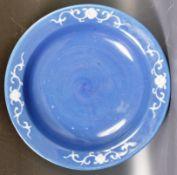 19TH CENTURY CHINESE POWDER BLUE FINISHED BOWL