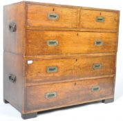 ANTIQUE ENGLISH MAHOGANY CAMPAIGN CHEST OF DRAWERS