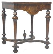 WILLIAM & MARY REVIVAL OYSTER VENEER CENTRE TABLE