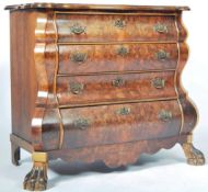 ANTIQUE 18TH/19TH CENTURY WALNUT COMMODE BOMBE CHEST OF DRAWERS