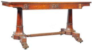 ANTIQUE 19TH CENTURY MAHOGANY LIBRARY TABLE