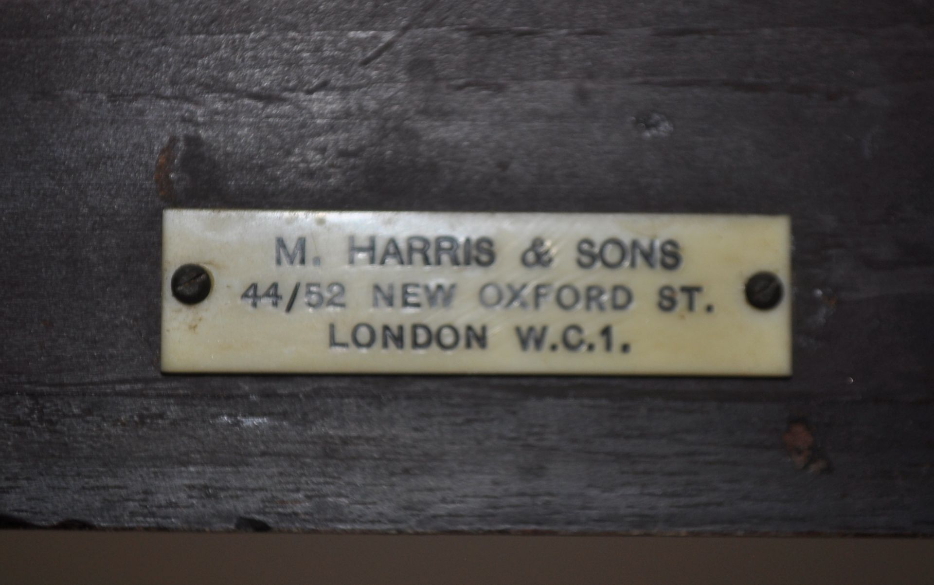 ANTIQUE ROSEWOOD REGENCY SOFA TABLE RETAILED BY HARRIS OF LONDON - Image 6 of 10