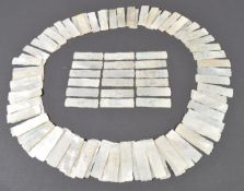 LARGE COLLECTION OF 100X ANTIQUE CHINESE GAMING TOKENS