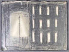 ATTRIBUTED TO L S LOWRY ( LAURENCE STEPHEN LOWRY 1887-1976) PENCIL STUDY