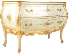LARGE ANTIQUE VENETIAN ITALIAN MARBLE TOP COMMODE CHEST