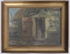 ANTHONORE CHRISTENSEN ANTIQUE OIL ON BOARD PAINTING