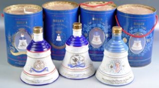 SET OF BELLS WHISKY ROYAL DECANTERS