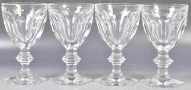 SET OF FOUR BACCARAT HARCOURT 1841 PATTERN WATER GOBLETS