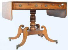 EARLY 19TH CENTURY GEORGIAN PRINCE OF WALES PLUME SOFA TABLE